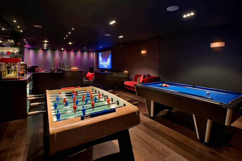 Modern Apartment Property Home Harrison Varma London Uk Games Room Bar