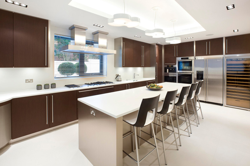 modern apartment property home harrison varma london uk kitchen chairs