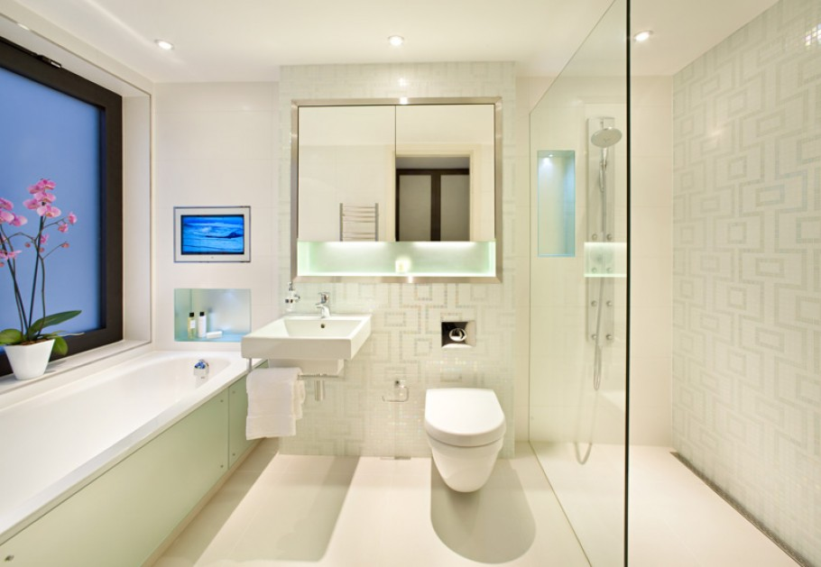 Modern house bathroom design : The luxury mansion in london by harrison varma ? adelto