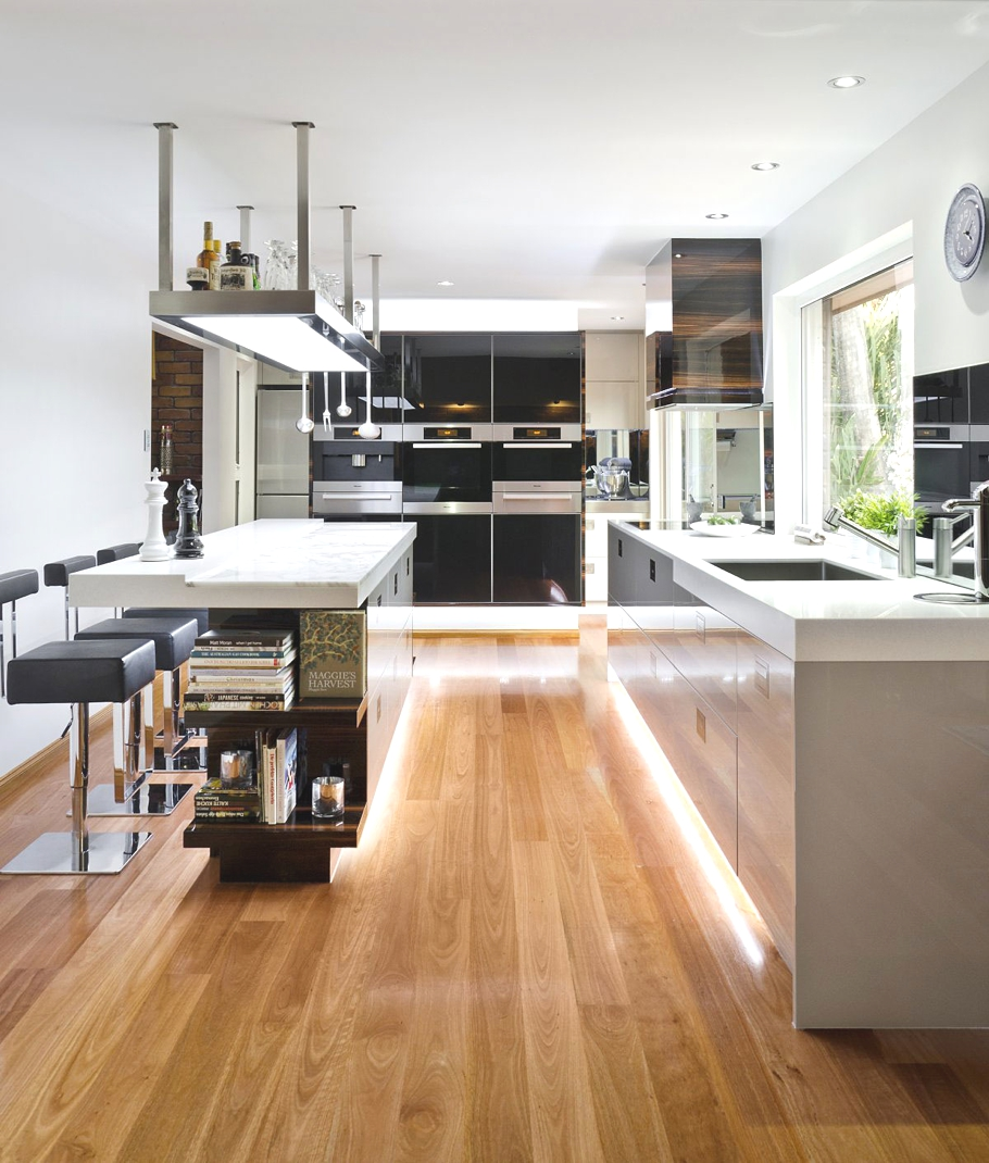 Modern Kitchen Floor Tiles Design: Contemporary Australian Kitchen Design « Adelto Adelto